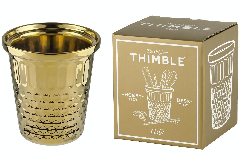 Giant Thimble Stationary Holder | Gold