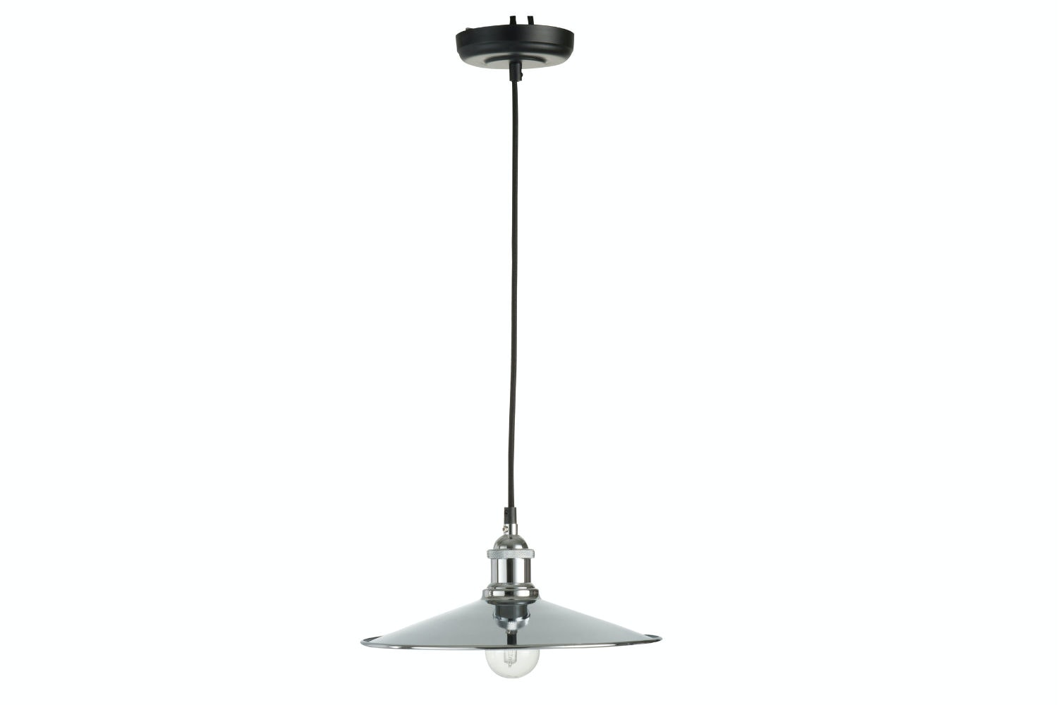Metal Hanging Lamp | Silver