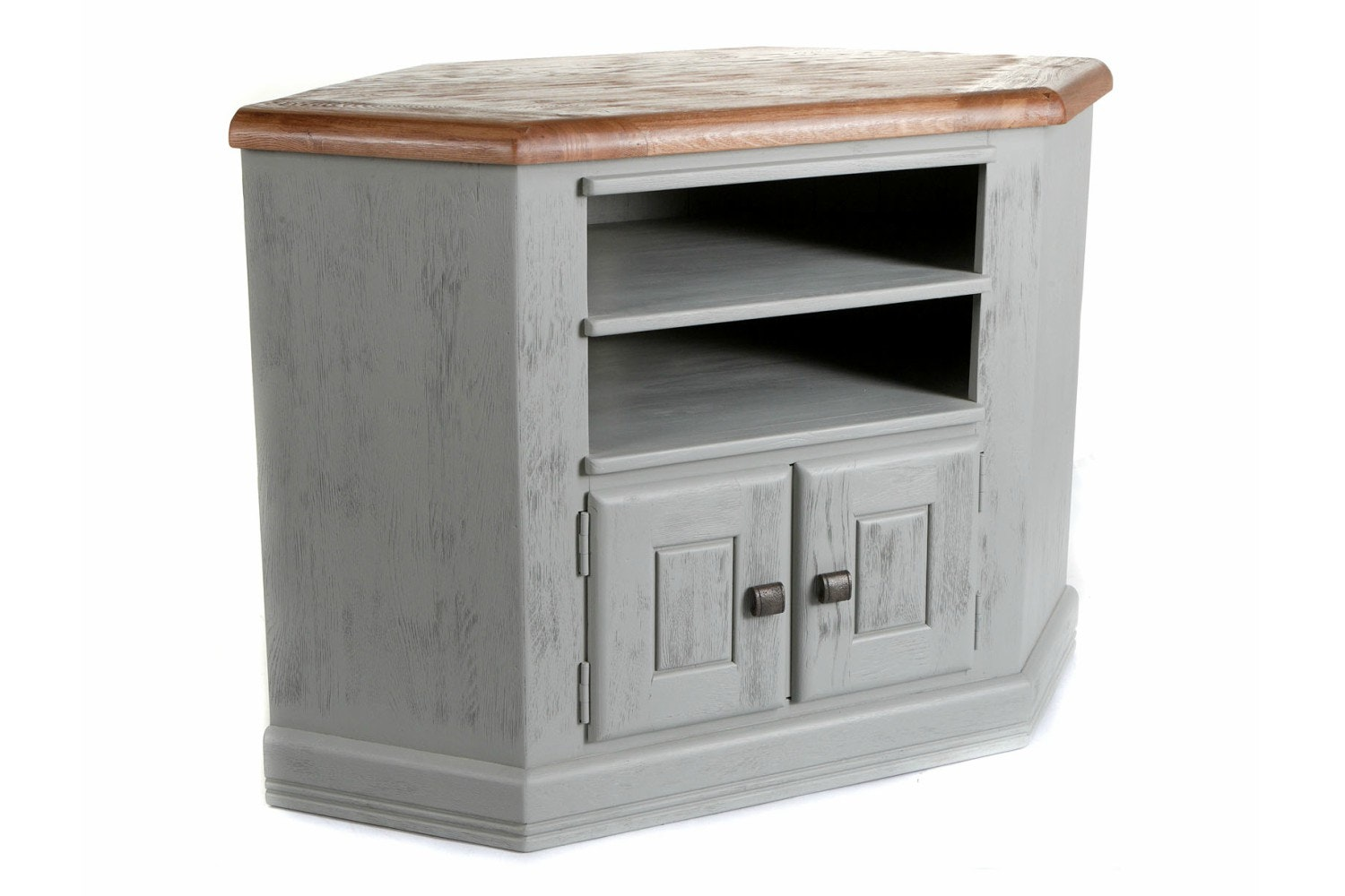 Queenstown Corner TV Unit | Painted Grey