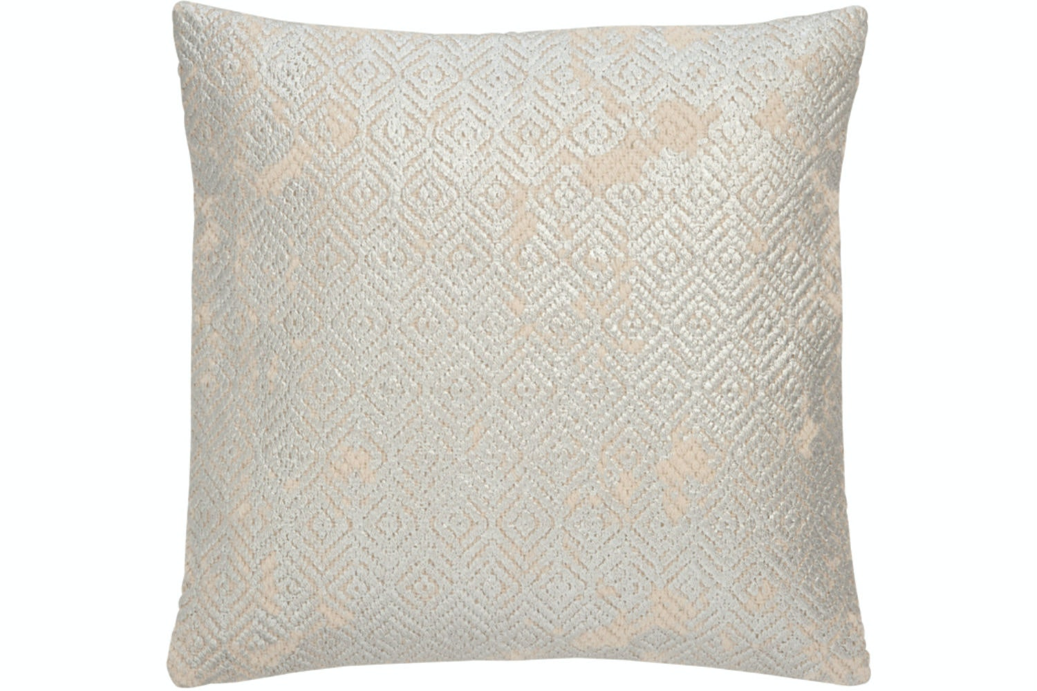 Silver & Grey Print Cushion