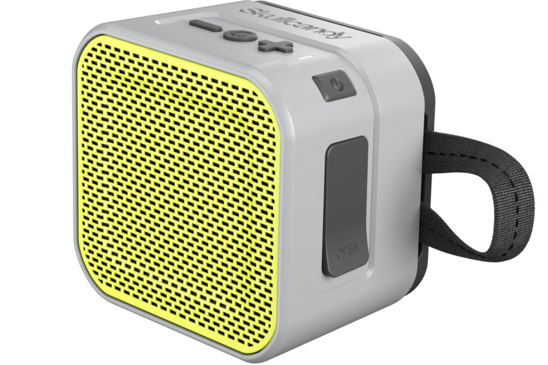 Skullcandy Barricade Mini Bluetooth Speaker | Grey & Hot Lime