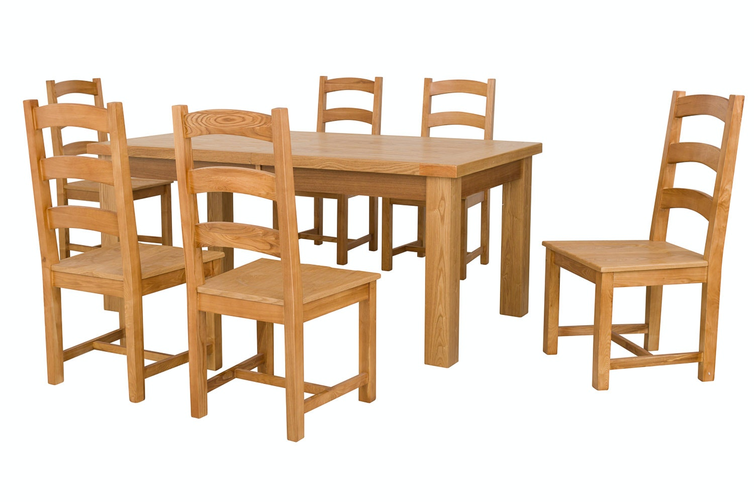 New Haven Natural 7-Piece Dining Set | 180cm Extending Table
