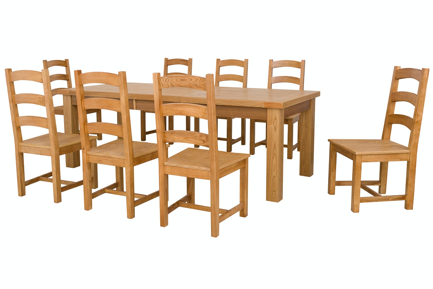 New Haven Natural 9-Piece Dining Set | 180cm Extending Table