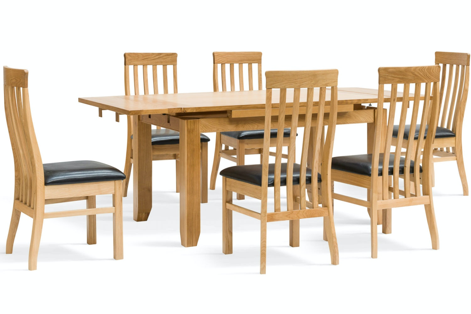 Hillary 7-Piece Oak Extending Dining Set | Dale Chairs