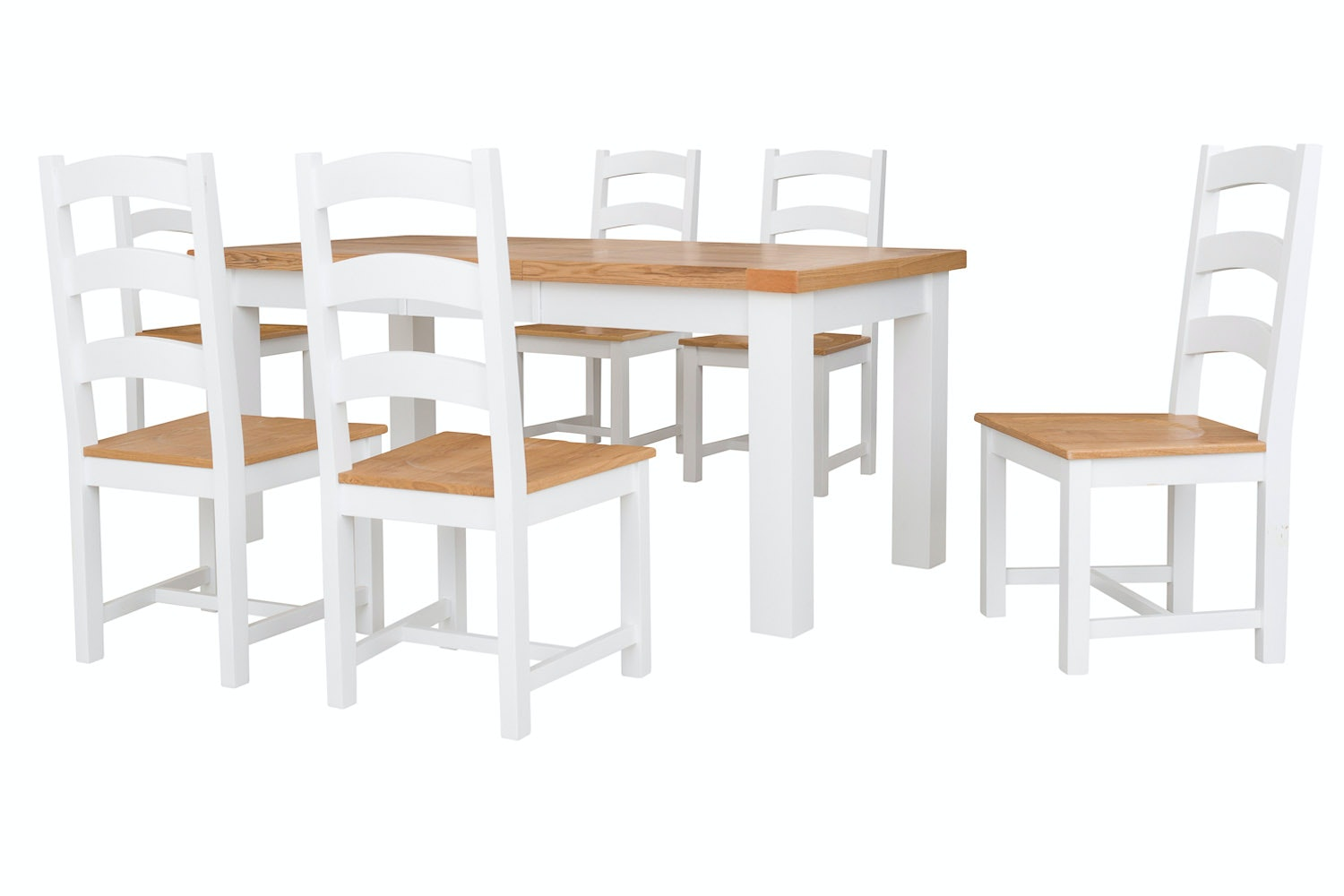 New Haven White 7 Piece Dining Set 140cm Extending Table  : NewHaven1407wht1 from www.harveynorman.ie size 1500 x 1000 jpeg 63kB