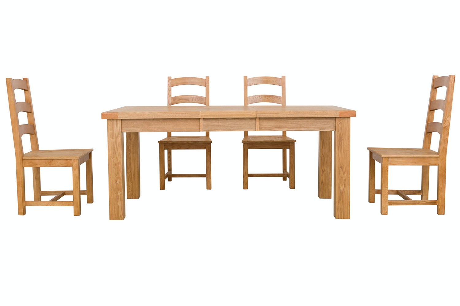 New Haven Natural 5-Piece Dining Set | 140cm Extending Table