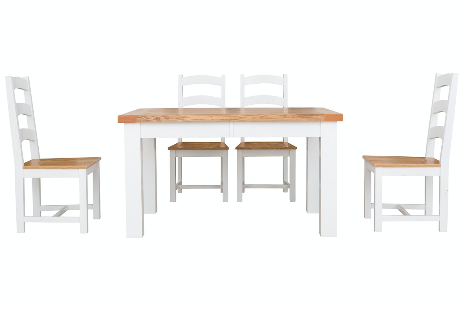 New Haven White 5-Piece Dining Set | 140cm Extending Table
