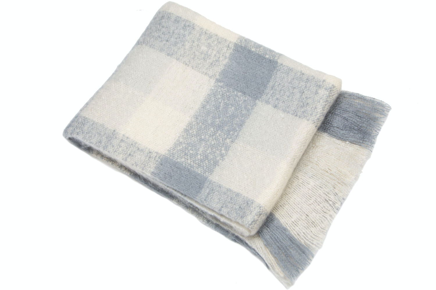 Navy Buckingham Throw