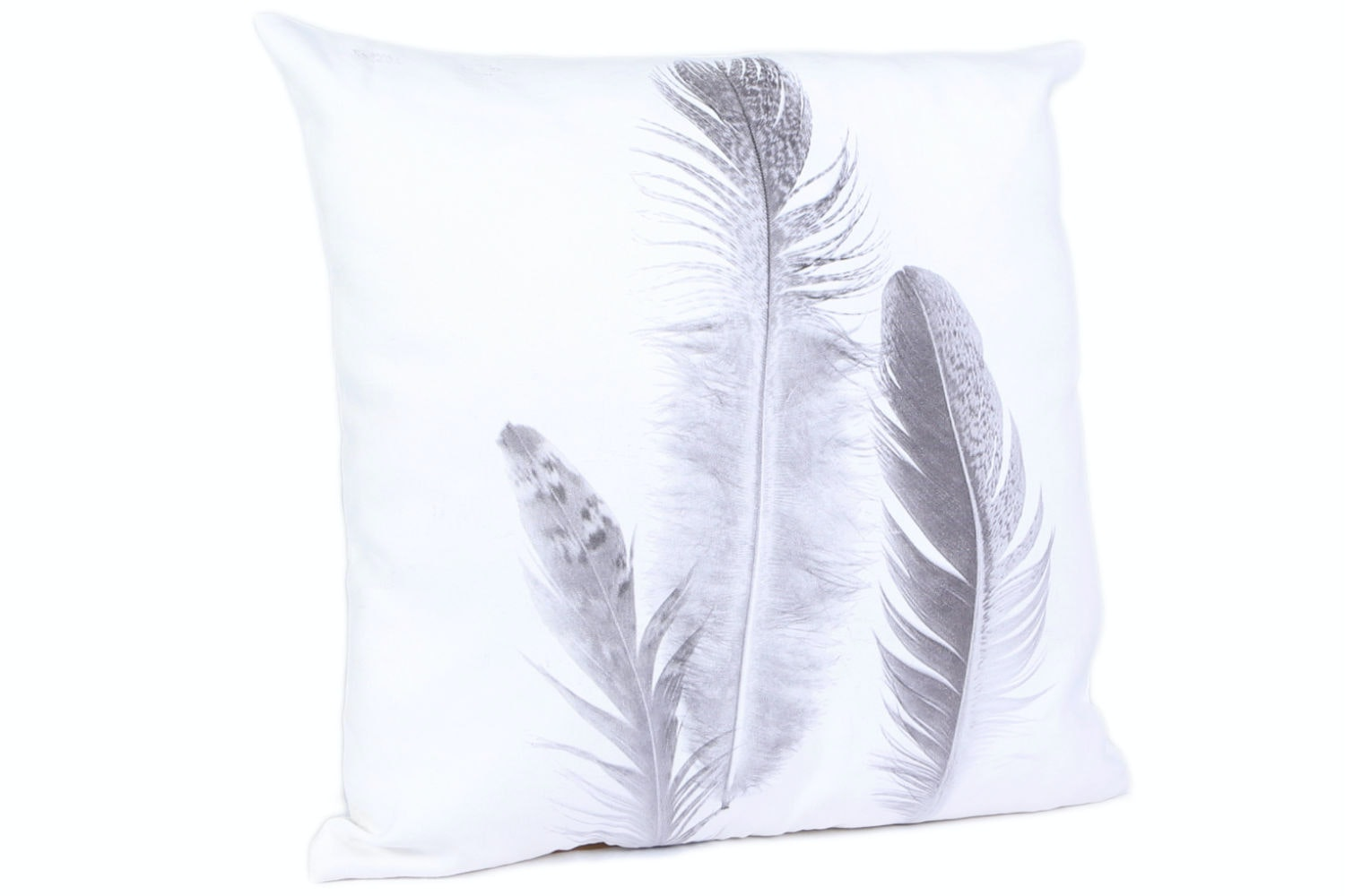 Suede Feather Cushion
