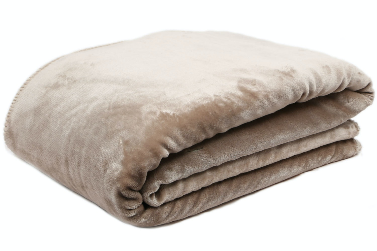 Taupe Fleece Throw