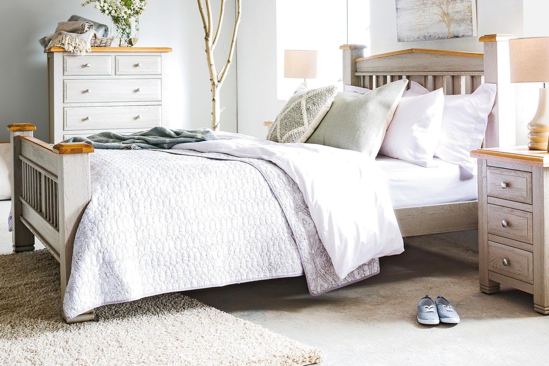 Lancaster Bedroom Furniture Lancaster Natural Oak Bed Frame 5ft Ireland