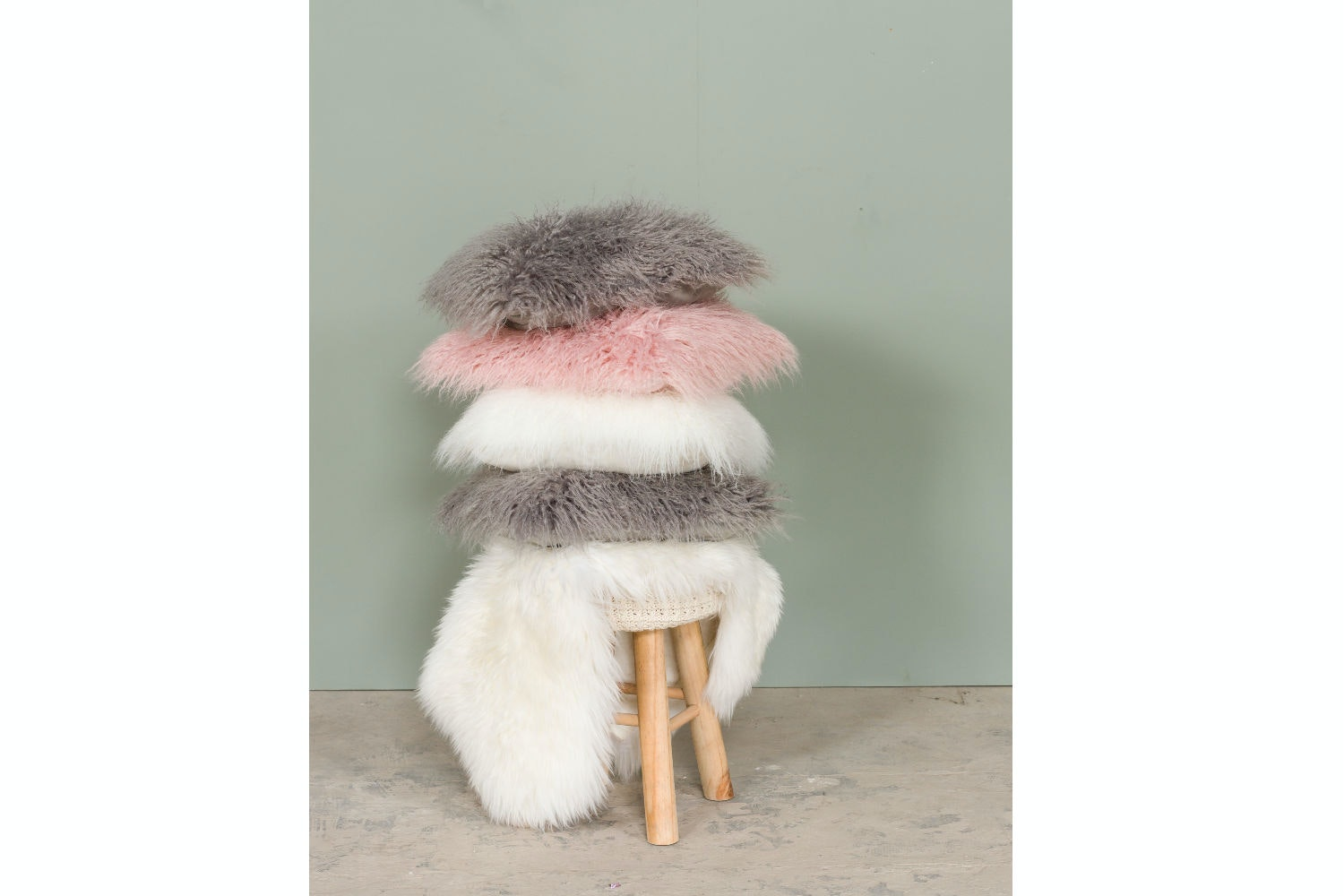 Gobi Fur Cushion | Ivory