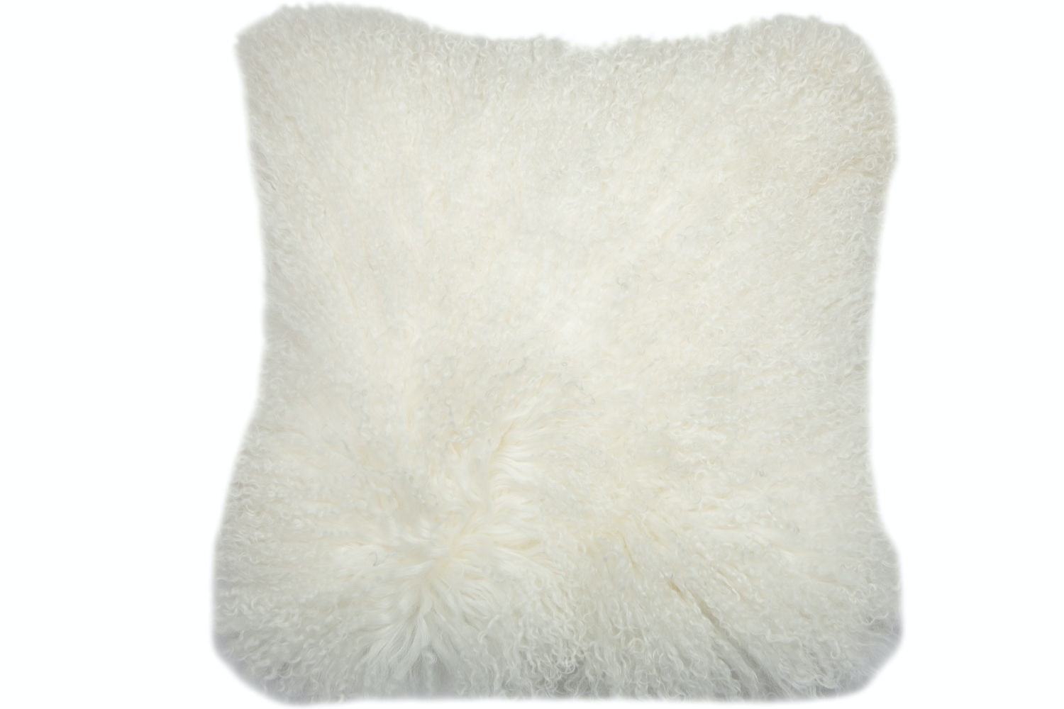 Real Mongolian White Cushion