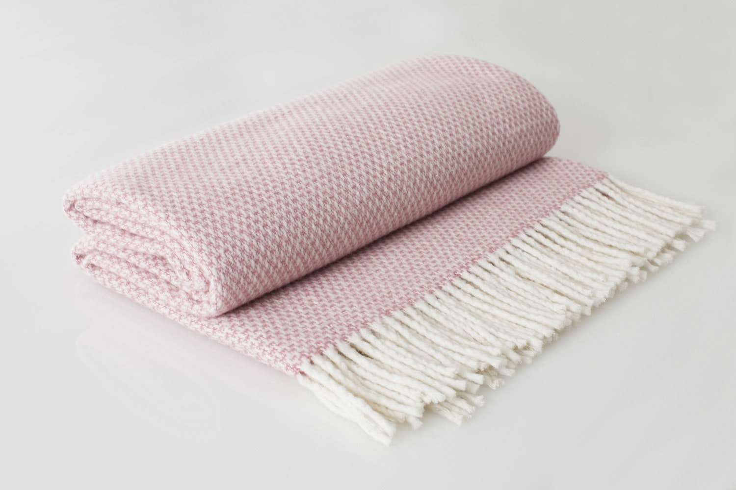 The Linen Room Polka Throw | Rose