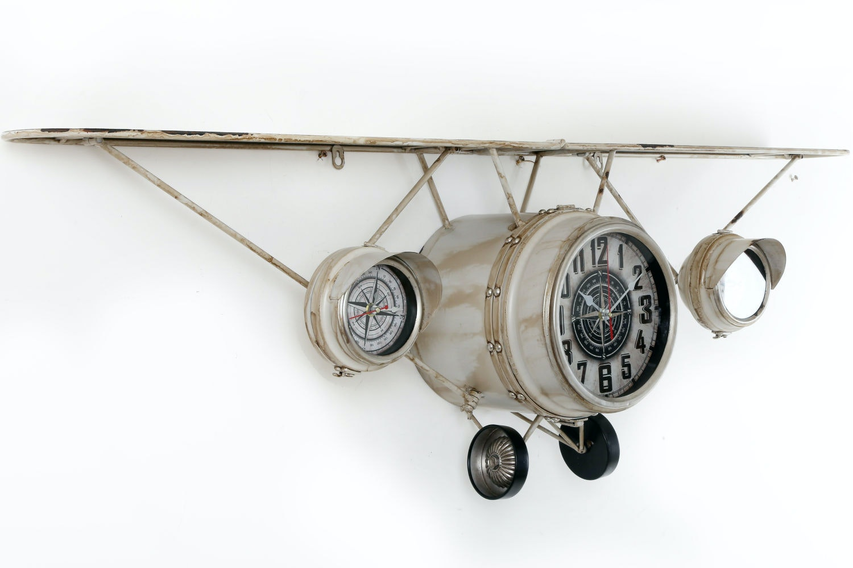 Vintage Aeroplane Shelf Clock