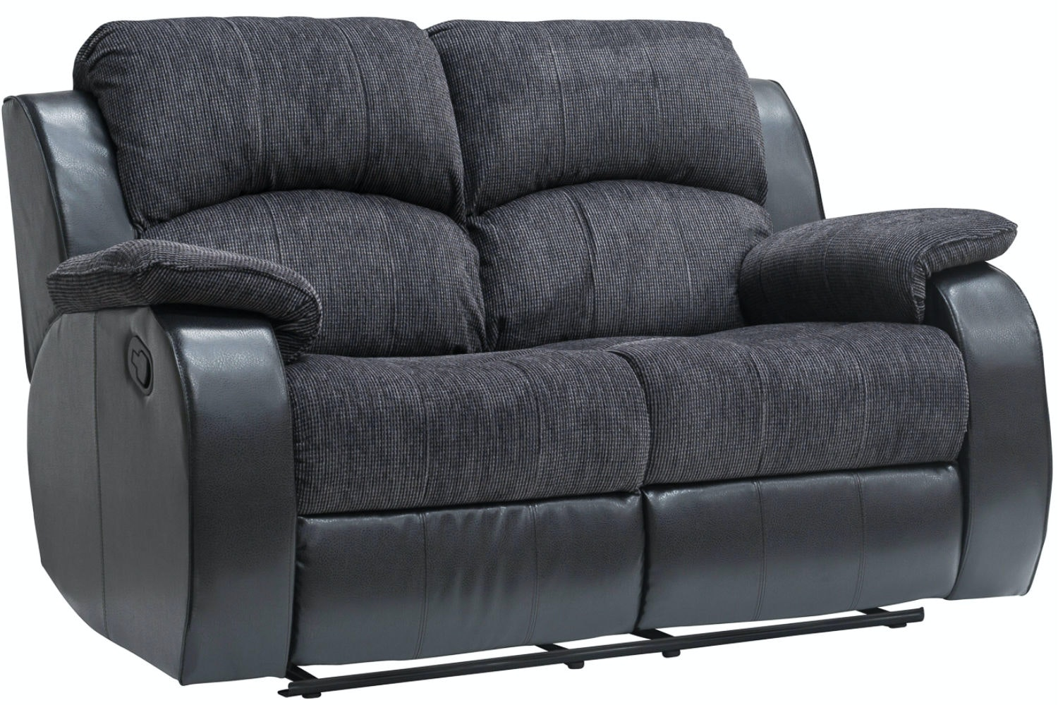 Kayde 2 Seater Recliner | Black