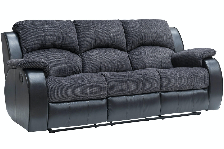 Kayde 3 Seater Recliner | Black ...  sc 1 st  Harvey Norman & Kayde 3 Seater Recliner Sofa | Black | Ireland islam-shia.org