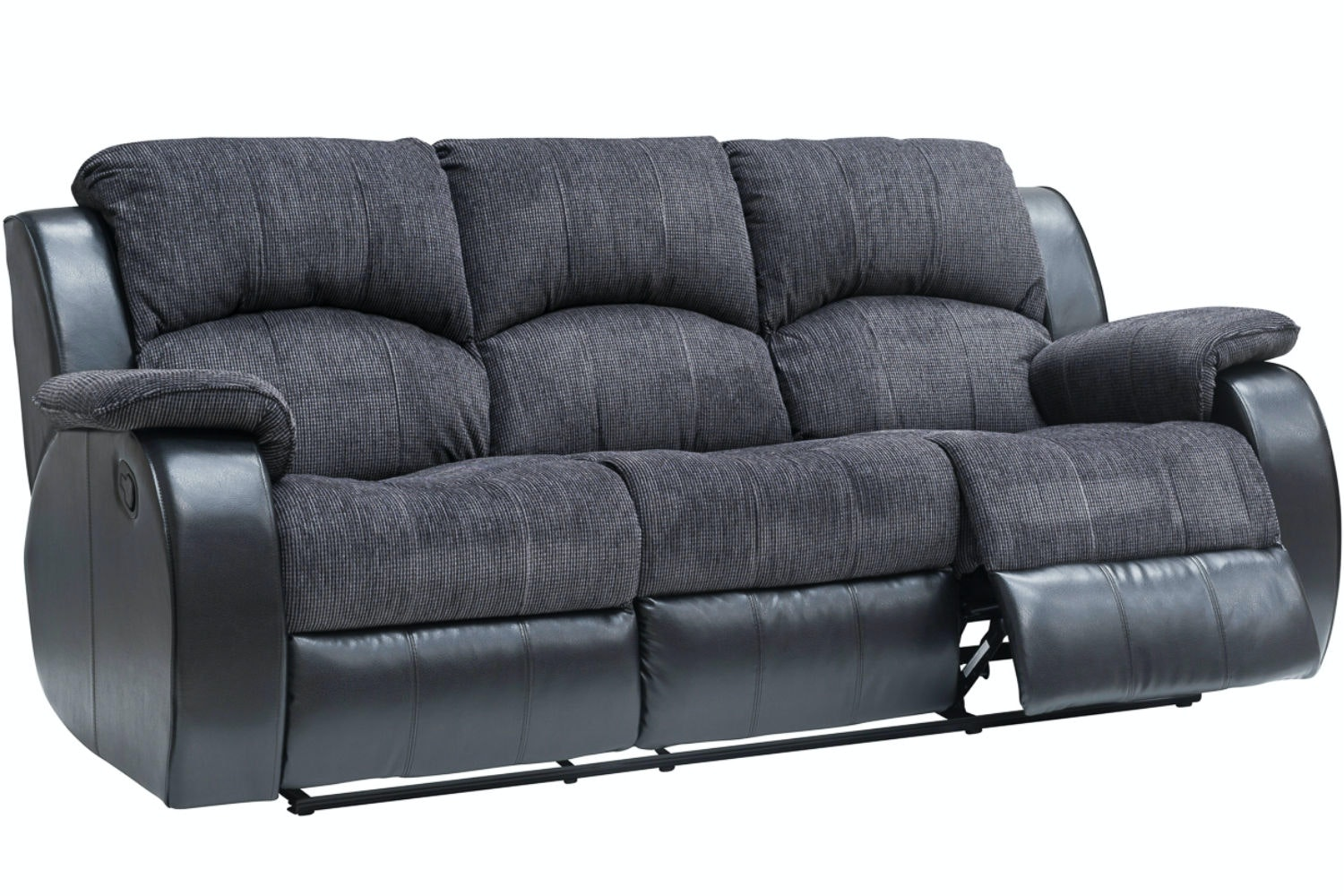 Kayde 3 Seater Recliner | Black