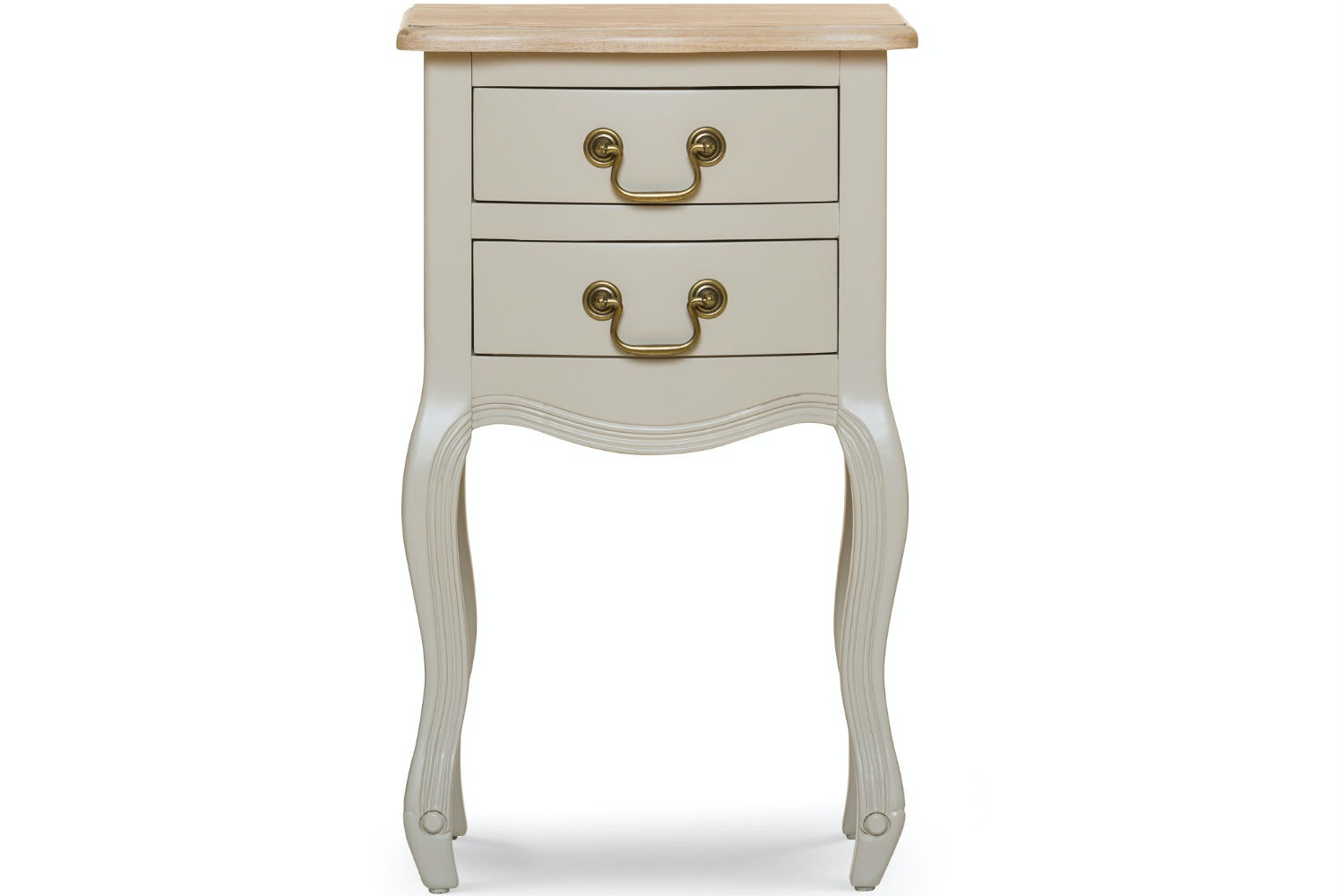 Bouvard Bedside Locker | 2 Drawer | Grey