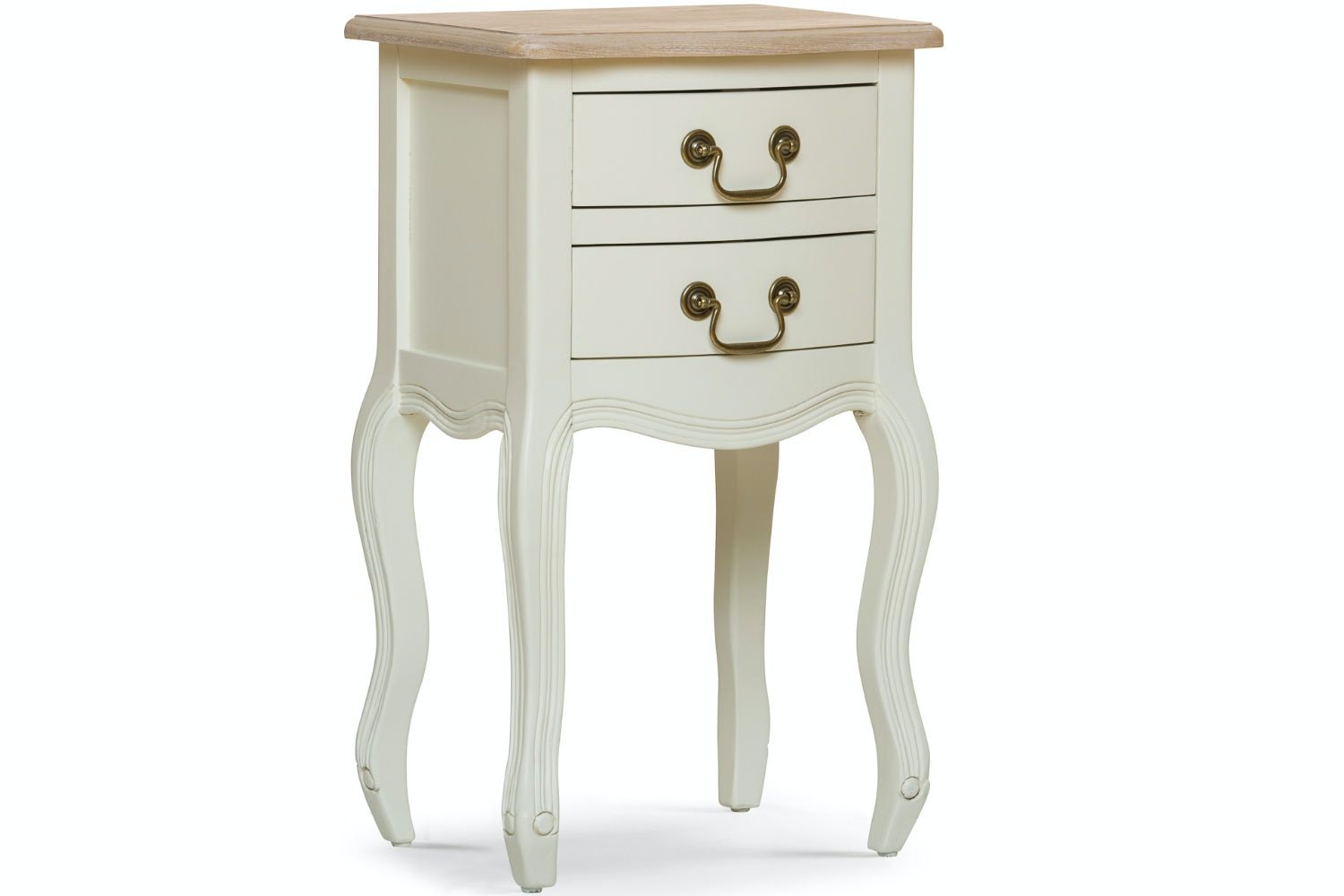Bouvard Bedside Locker | 2 Drawer | Cream
