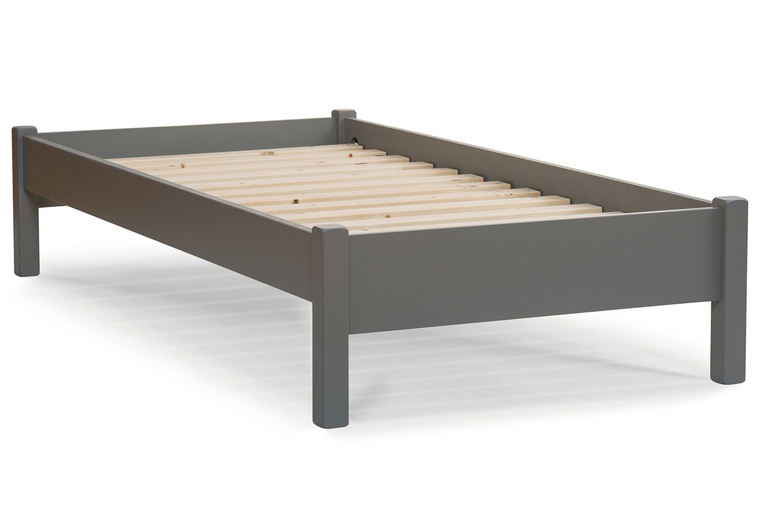 Emily Low Low Bed Frame With Underbed Drawers 3ft Dove Grey