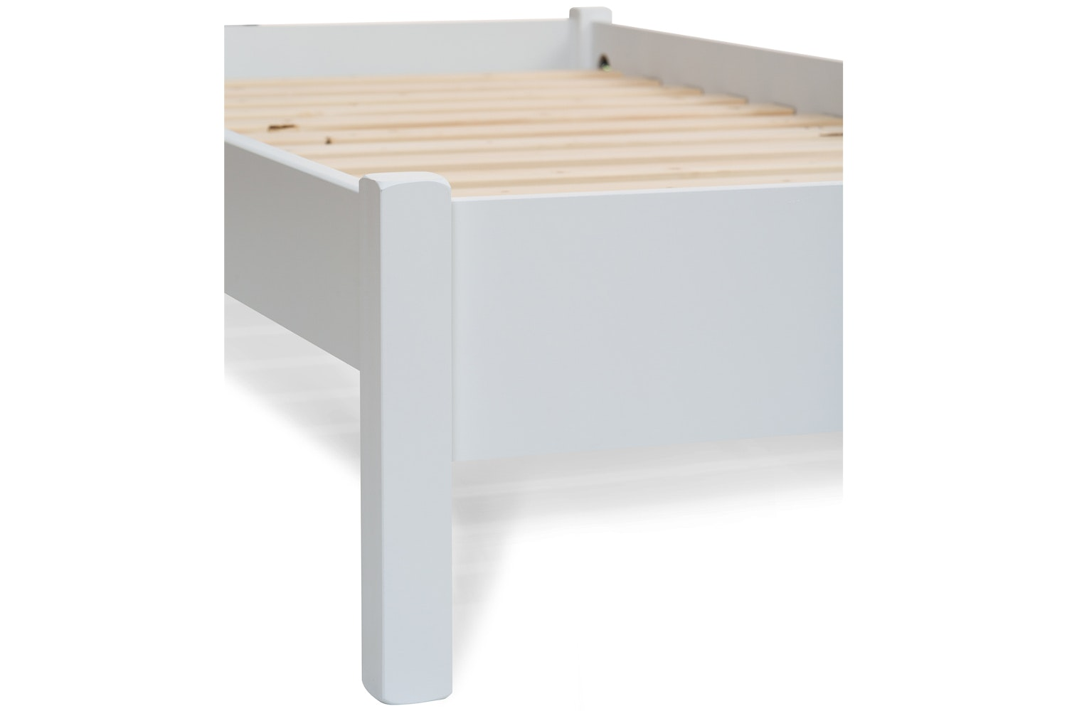 Emily Low Low Bed Frame With Underbed Drawers 3ft White Ireland