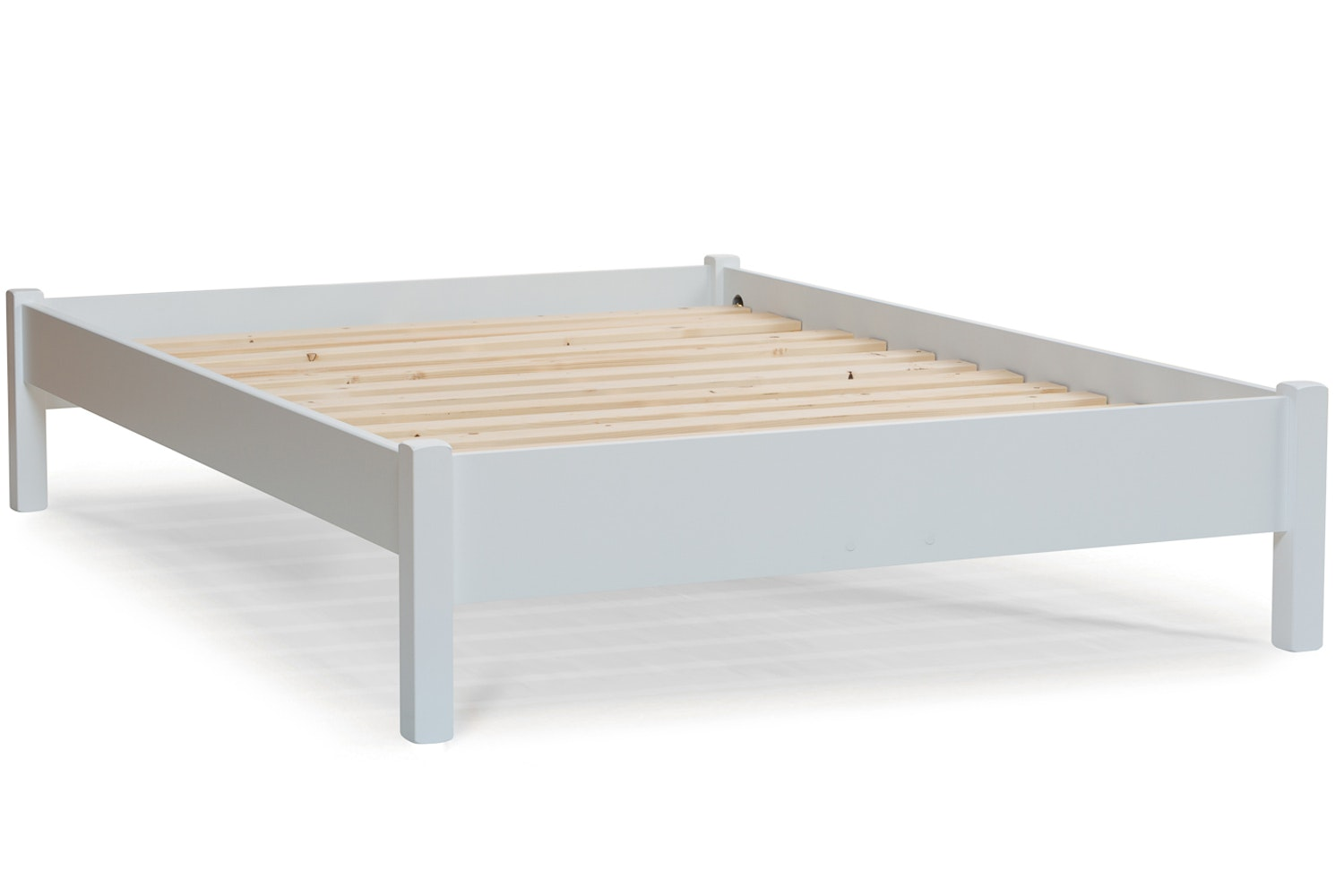 Emily Low Low Bed Frame With Underbed Drawers 4ft White Ireland