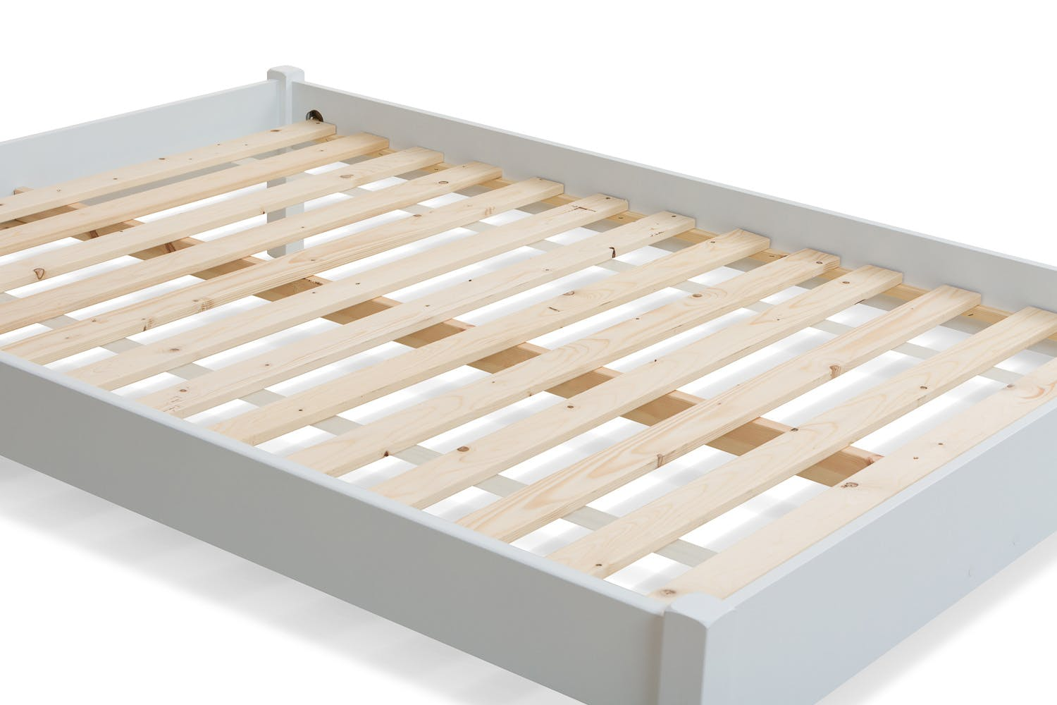 Emily Low Low Bed Frame 4ft6 White Ireland