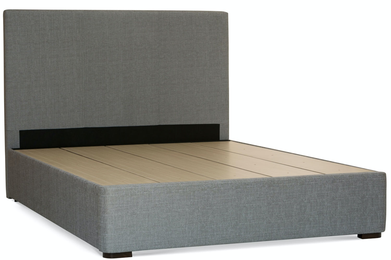 Duval 5' Bed Frame | Grey | Vertical Stitch