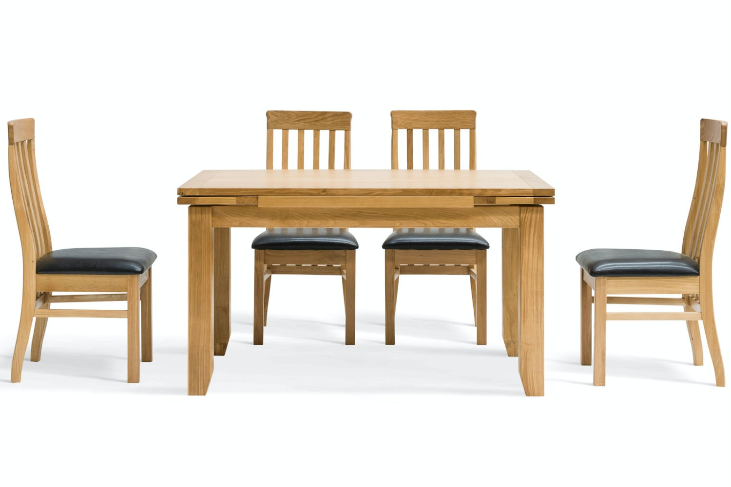 Hillary 5-Piece Oak Extending Dining Set | Dale Chairs