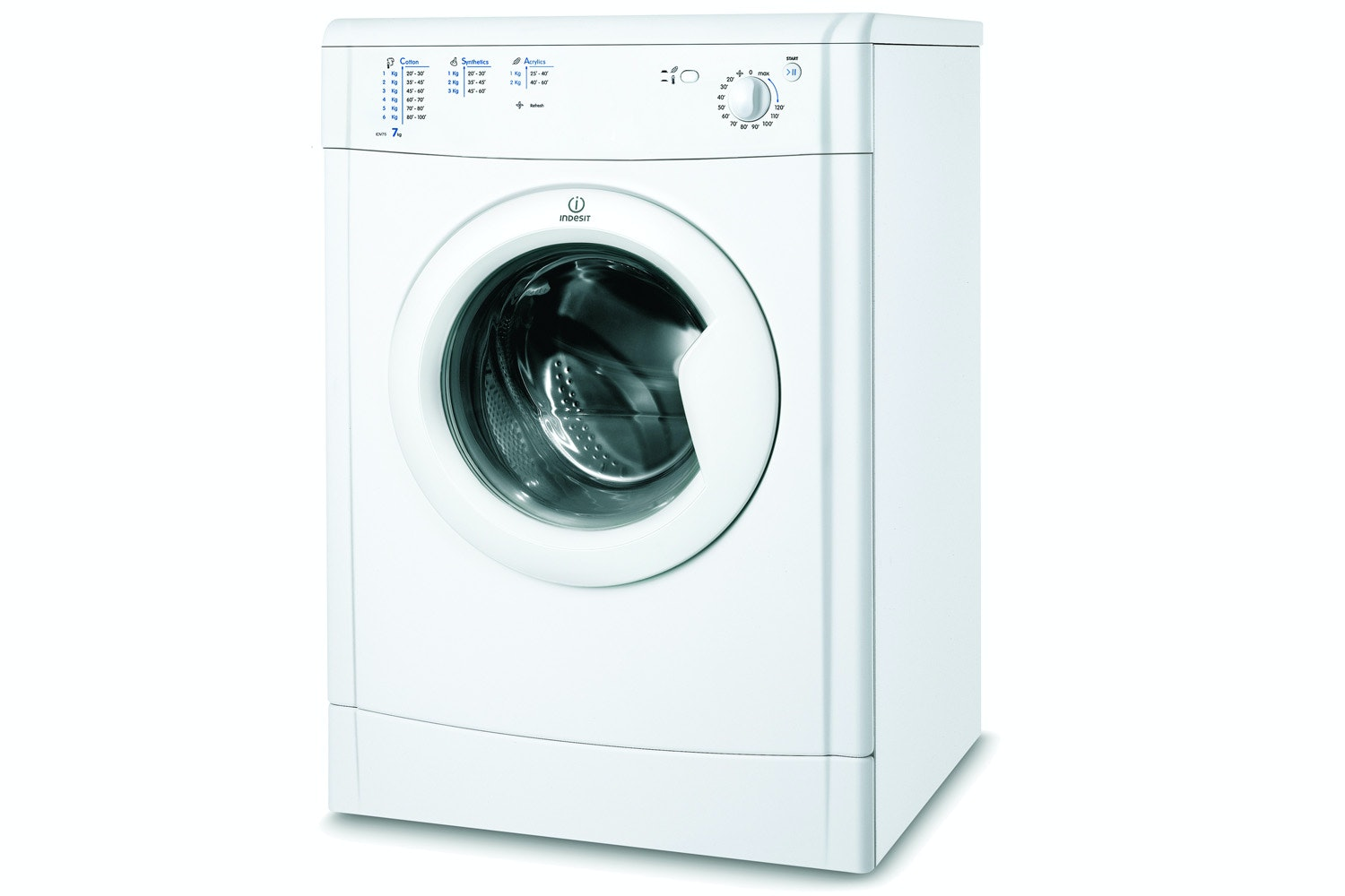 Indesit EcoTime 7kg Vented Tumble Dryer | IDV75