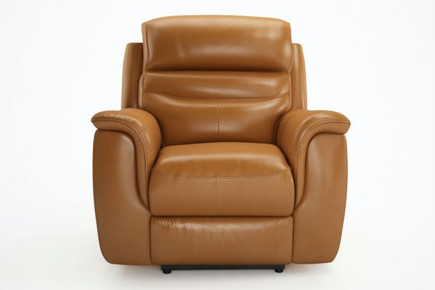 Bayle Leather Recliner | Electric | Saddle