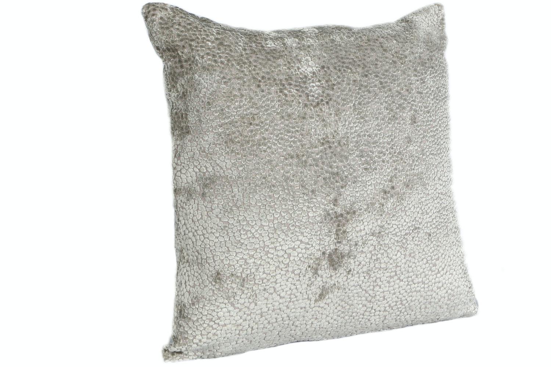 Burnt Velvet Cushion   Silver