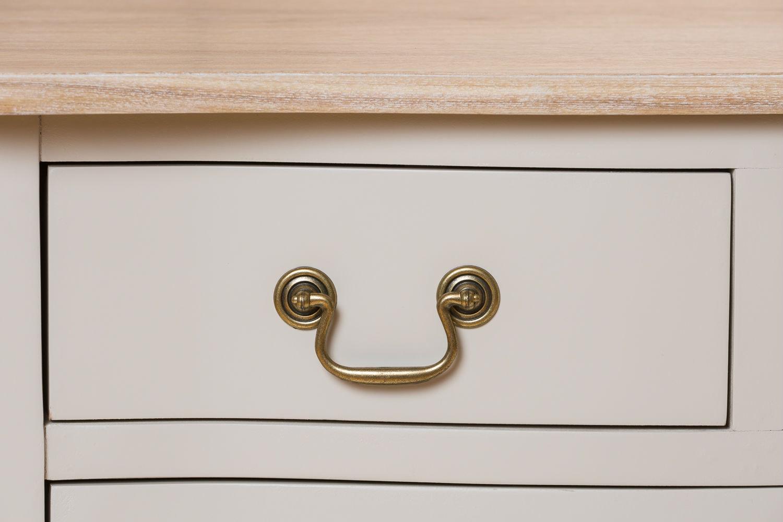 Bouvard 6 Drawer Dresser Chest   Grey