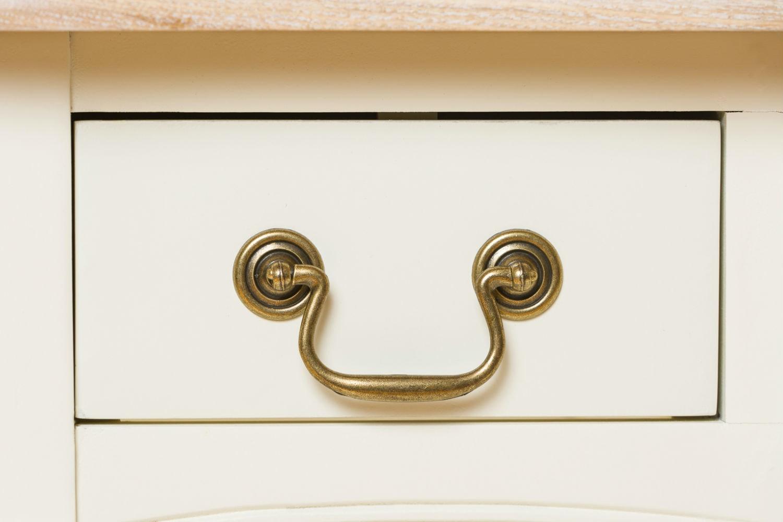 Bouvard Bedside Locker | 3 Drawer | Cream