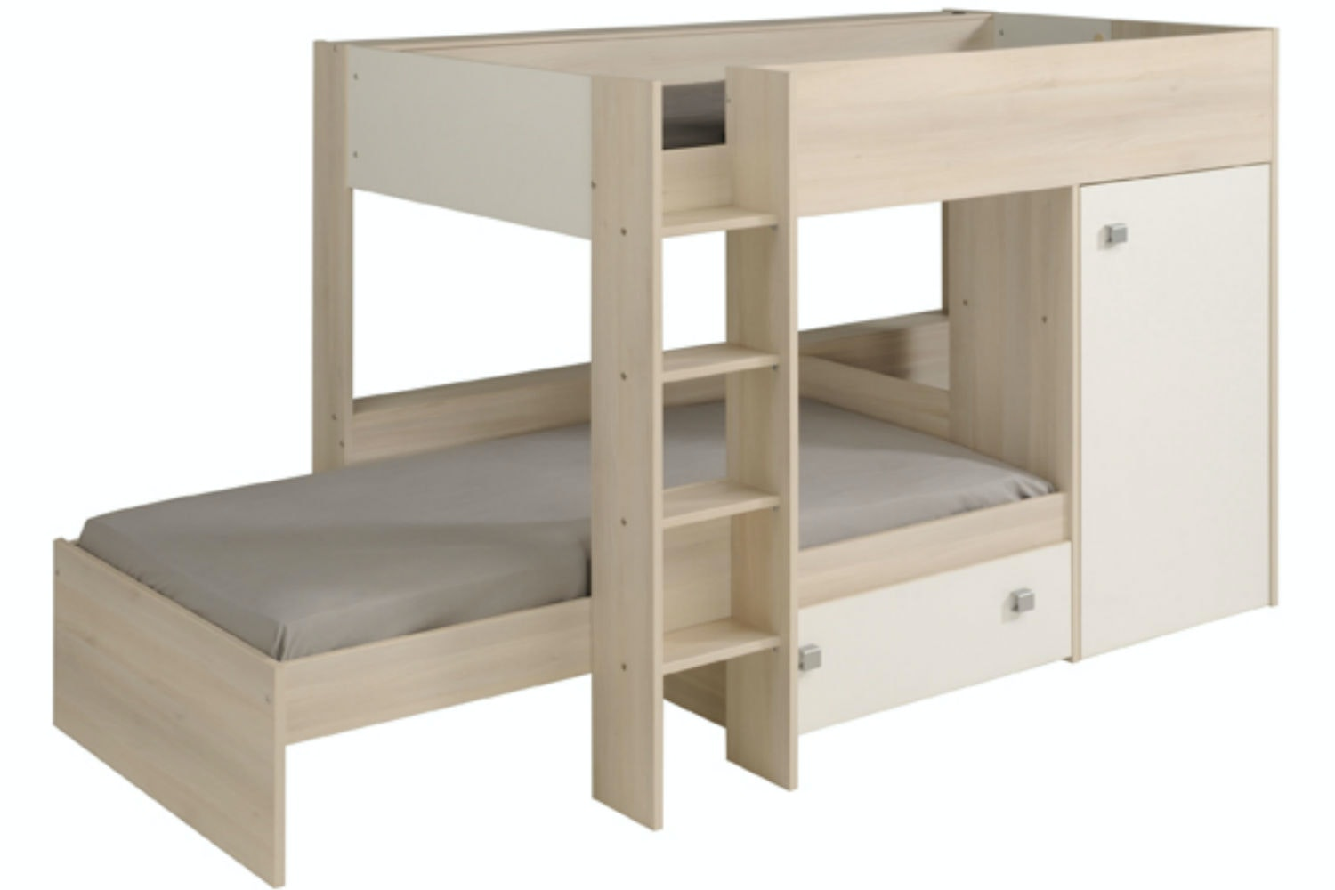 Charlie '90' Bunk Bed | 3ft | White