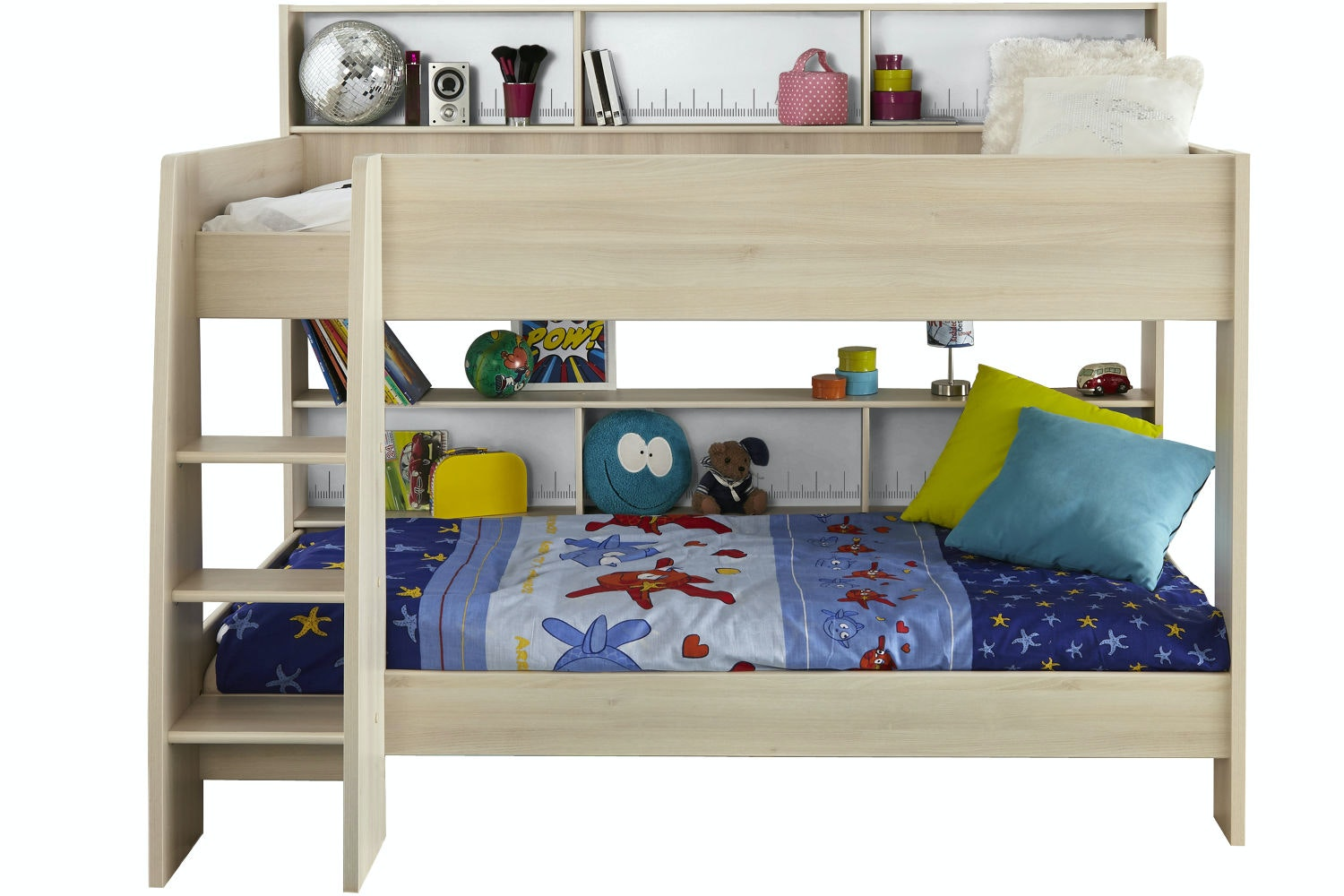 Charlie Storage Bunk Bed | Acacia & White