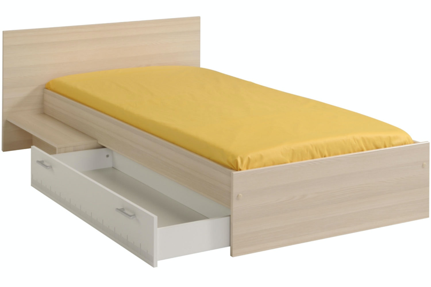 Charlie Trundle Bed Frame | 3ft | Acacia & White