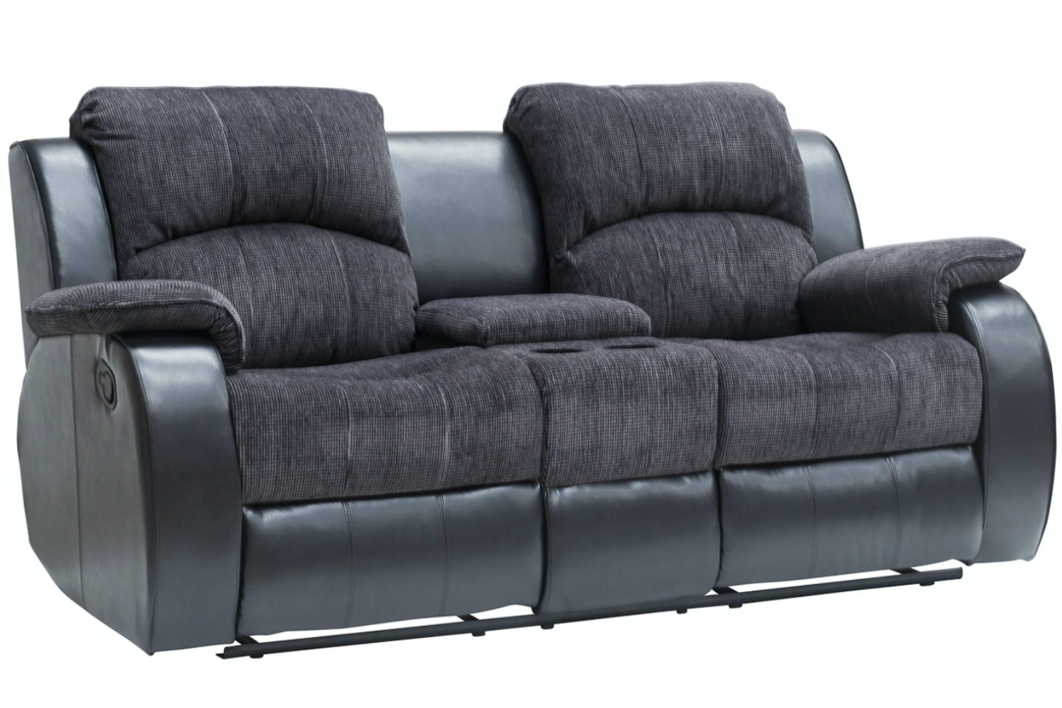 Kayde Console Recliner Sofa | Black