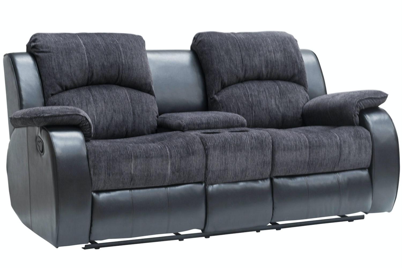 Kayde Console Recliner Sofa | Black ...