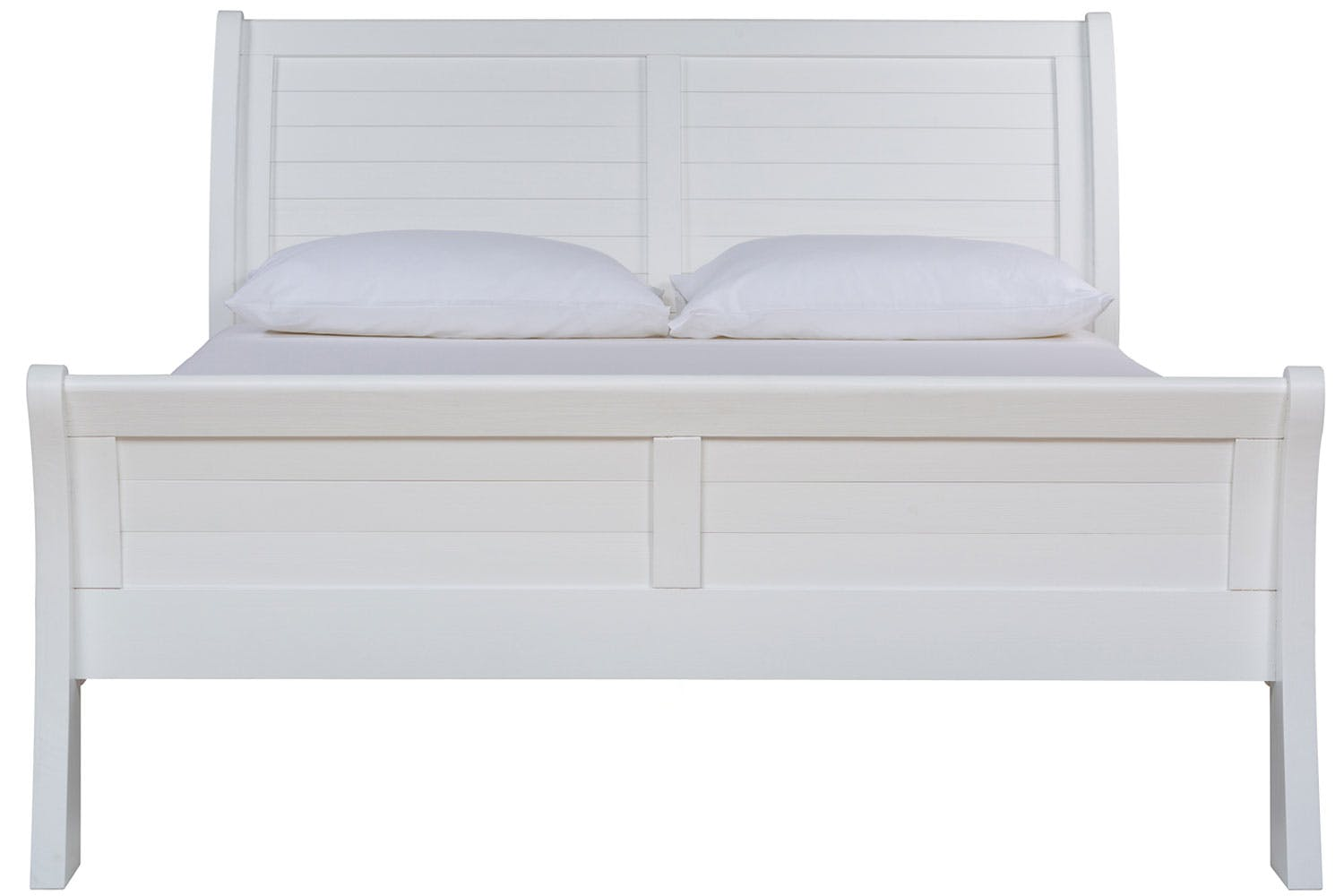 gemstone double bed frame 4ft6 white - Double Bed Frame