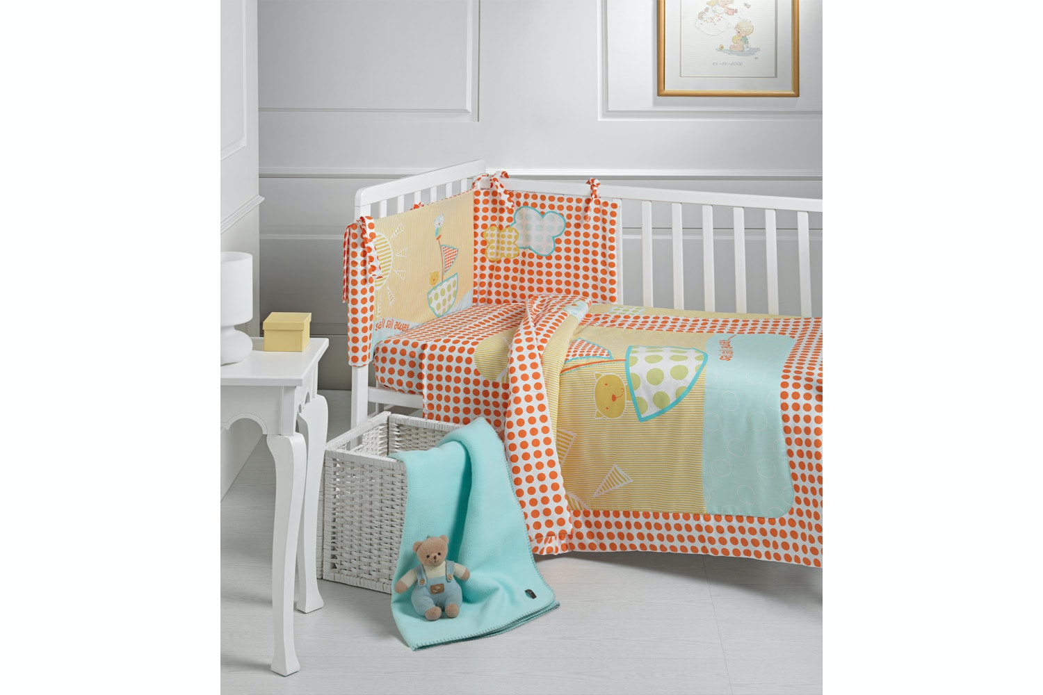 Babysleep 5 PC Bed Set | Owl & Pussycat