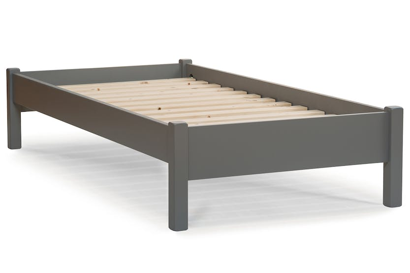 Emily low low bed frame 3ft dove grey ireland for Low bed frames for lofts