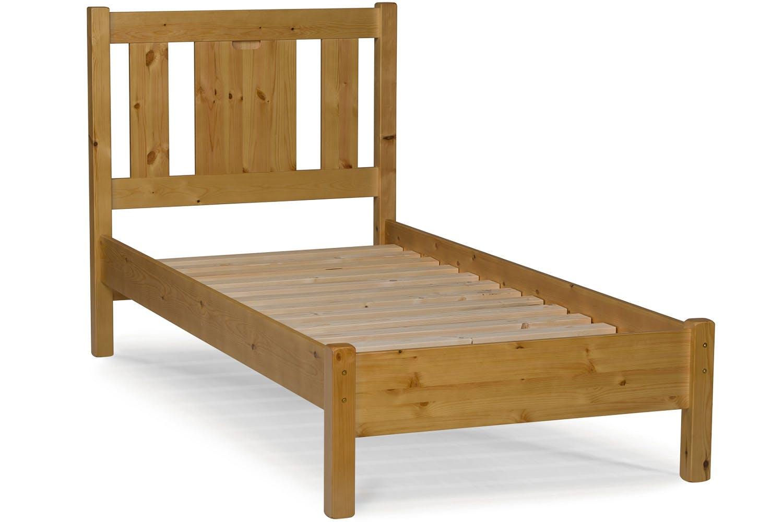 Emily single bed frame 3ft white ireland for Single bed frame