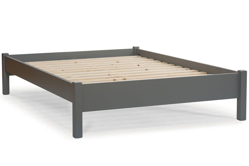 Emily low low bed frame 4ft dove grey ireland for Low bed frames for lofts