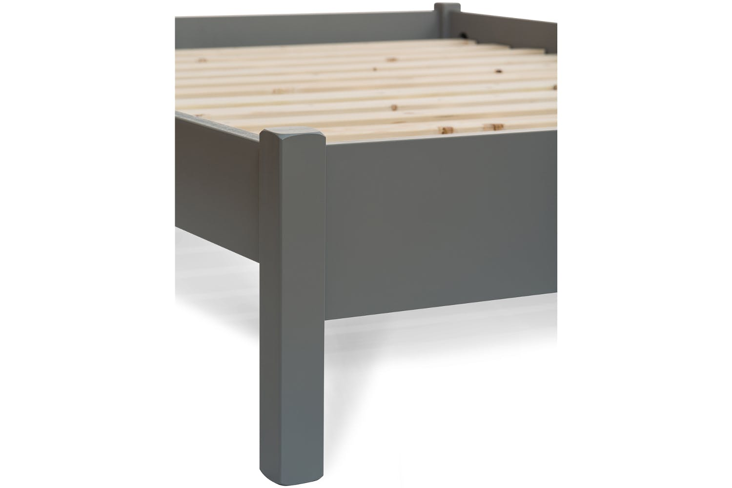 Emily Low Low Bed Frame With Underbed Drawers 4ft Dove Grey