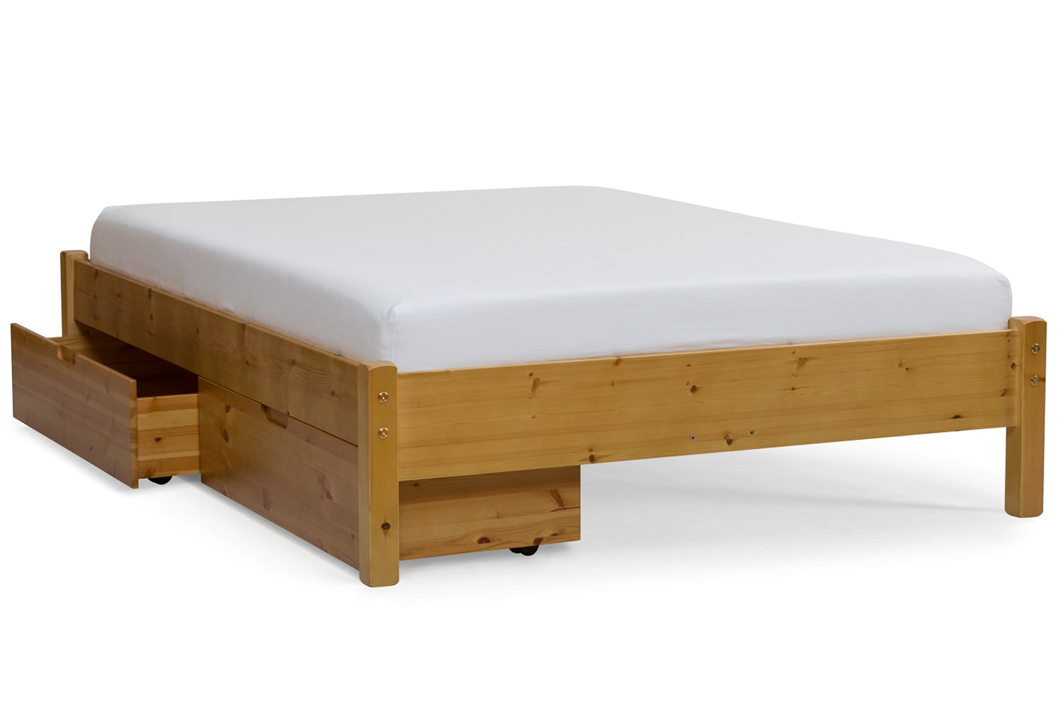 Emily Loft Bed Frame with Underbed Drawers | 4ft | Natural