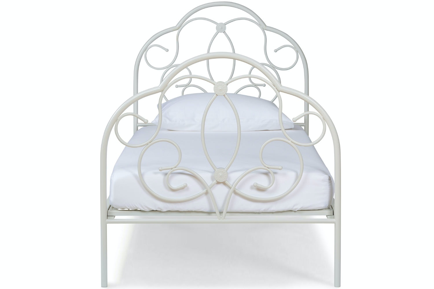 Georgina Single Bed Frame | White