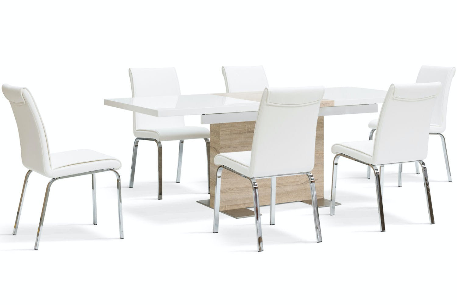 Lennox 7 Piece Dining Set Leonora Chairs H000012555 Computer Hard Drive Circuit Board Spiral Note Book 1295 White
