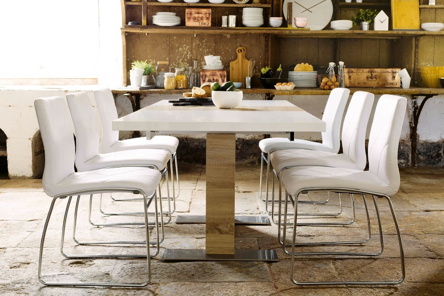 Lennox 7-Piece Dining Set | Halo Chairs